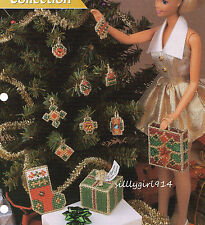 """""""CHRISTMAS ACCENTS""""~Plastic Canvas PATTERN~PATTERN ONLY for BARBIE FASHION DOLL"""