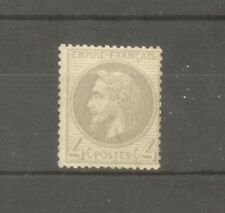 """FRANCE STAMP TIMBRE N° 27 """" NAPOLEON III 4c GRIS """" NEUF xx A VOIR"""