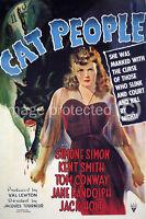 Vintage Simone Simon Horror Movie 11x17 Poster Cat People