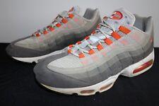 Nike Air Max 95 Grey Orange Sneakers Men's Size 12 Used NO BOX