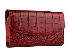SALE: SENA Bumper Wallet Pouch Leather Case CROCO RED for iPhone 4/4S