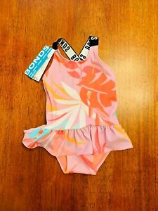 Bonds Baby Girl Pink Floral Swimsuit Size 0 BNWT
