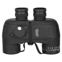10X50 Waterproof Military Binoculars Prism with Range finder Compass Black set~~