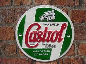 Cast Iron Castrol TT plaque