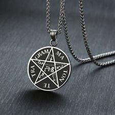 Pentagram of Solomon Pendant Tetragrammaton Name of God Men Necklace Star Amulet