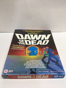 Dawn of the Dead Game - SPI 3140 - 1978 - all pieces and inserts with bonus ads