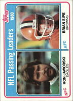 1981 Topps Football Cards 1-240 +Rookies - You Pick - Buy 10+ cards FREE SHIP