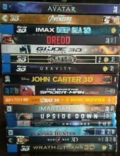 3D Blu-Ray Movies Lot Sale $6 - $12 ea. $2.50 shipping ($1 add.title)