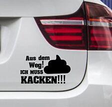2er Set wDesigns Autoaufkleber AUS DEM WEG ICH MUSS KACKEN Tuning Sticker Fun
