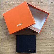 """Hugo Boss Orange Pour Homme En Cuir Noir portefeuille """"STREETLINE 4cc coin"""" deux volets 50332379"""