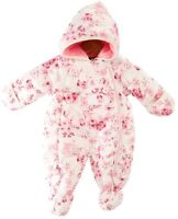 Rothschild Girls Hooded Pram Snow Suit Pink Floral Sizes 3-6 Month, or 6-9 month