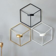 1PC Wall Mounted Candle Holder 3D Wall Lamp Tealight Candlestick Household Decor