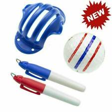 Golf Ball Triple Track 3 Line Marker Stencil + 2 Pen Set AU