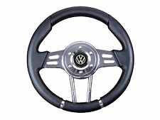 BLACK V2 SPORT STEERING WHEEL for VW will fit Momo OMP Sparco boss kit