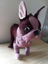 Fuzzy Nation Boston Terrier Maroon And Pink Purse Bag With Adjustable Legs