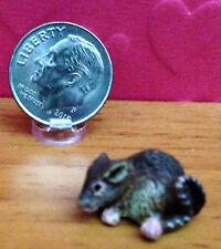 Dollhouse Miniature Figurine - Opossum - 1:12 Artisan Quality