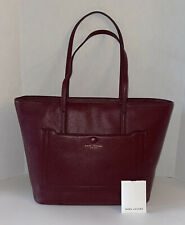 $395 New MARC JACOBS NEW YORK TOTE LEATHER Large Bag MULLED WINE M0016394