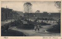 EARLY 1900's VINTAGE POSTCARD - GIARDINI della LITORANEA, NAPOLI - 2 YOUNG GIRLS