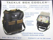 Zero Degrees Large Fishing Tackle Bag Box Cooler Organizer + Utility Boxes