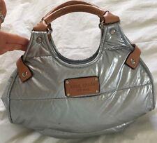 KATE SPADE Metallic Silver PUFFER Hobo Handbag Purse-NICE