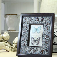 6x4 Luxury Rustic Shabby Chic Black Wooden Freestanding Wall Mounted Photo Frame