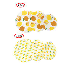 3 Set Washable Reusable Cotton Bowl Wraps Food Saver Cover Seal Lids for Picnic