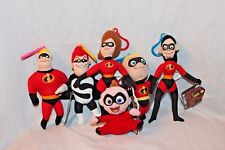 New Set Of 6 Disney Pixar 2004 The Incredibles Plush Clips Free Shipping