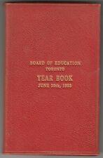 VINTAGE Board of Education Toronto Year Book 1955 - Canada - RARE - HardCover