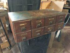 Antique 8 drawer card file cabinet