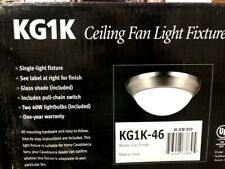 Casablanca Ceiling Fan Light Fixture Rustic Iron Finish KG1K-46