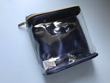 ESTEE LAUDER Navy Clear cosmetic/makeup pouch bag