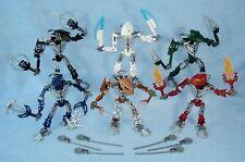 2005 Lego Bionicle HORDIKA (8736- 8741) Metru Nui Toa - Complete with Spinners