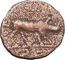 TRAJAN 98AD Quadrans Ancient Rare Roman Coin Hercules Calydonian Boar   i47774