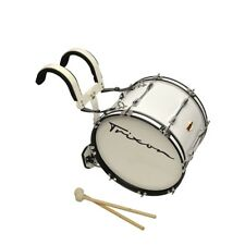 """Trixon Field Series II Marching Bass Drum 26 by 12"""" - White"""