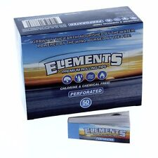 25 PKS ELEMENTS PERFORATED ROLLING PAPER FILTER TIPS FOR SIZE 1.25 KING 1.0