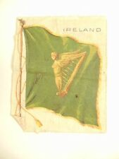 Old Nebo cigarette advertising cloth patch w/ flag of Ireland