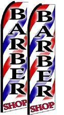 Barber Shop  King Size Polyester Swooper Flag Pack of 2  (HARDWARE NO INCLUDED)