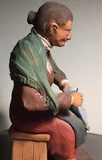 Rare Antique Hand Molded Italian Polychromed Terracotta Neapolitan Crèche #4