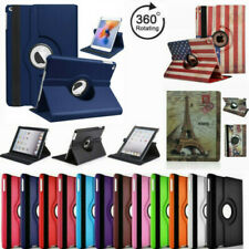 For iPad 2 3 4 Case Cover 360 Rotating Folio Stand Leather & Retro American Flag
