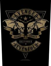 OFFICIAL LICENSED - AVENGED SEVENFOLD - ORANGE COUNTY SEW ON BACK PATCH METAL