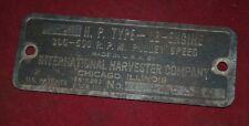 International Ihc 3 5 Hp Lb Steel Name Plate Tag Gas Engine Motor Op2941