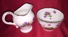 Beautiful Royal Stuart Spencer Stevenson England Bone China Creamer & Sugar Bowl