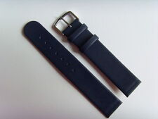 Watch Strap Leather Blue 18 mm slide in Attachment For Screwing Skagen Bering