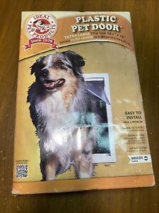 "Ideal Pet Products EXTRA LARGE Plastic Pet Door Flap PPDXL 10.5"" x 15"" XL NEW"