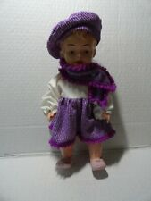 VINTAGE - OK KADER B3512 - 12 INCH PLASTIC DOLL w/ MOVING EYES JOINTED CLOTHED