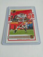 Clyde Edwards-Helaire Kansas City Chiefs 2020 Panini Donruss Rated Rookie Canvas