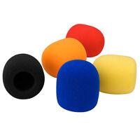 5 X Colors Handheld Stage Microphone Windscreen Foam Mic Cover Karaoke DJ Sales