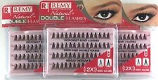 NEW LOT OF 3 RESPONSE 52D REMY NATURAL DOUBLE I-LASHES KNOT-FREE MEDIUM BLACK