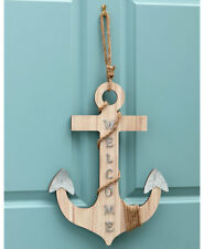 Coastal Beach Anchor Welcome Sign Nautical Seaside Anchor Porch Greeting Sign