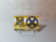 Wolverine Faculty ID Card - XID 025 Marvel X-Men Xavier's School HeroClix